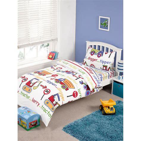 Single Bed Sets Complete Single Bed Set Digger Duvet Covers