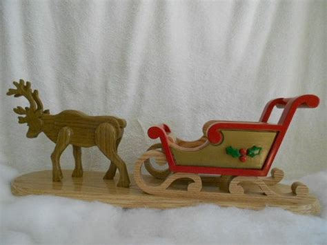 handcrafted solid wood santa sleigh and