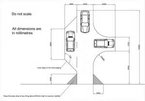 residential driveway turning radius for cars