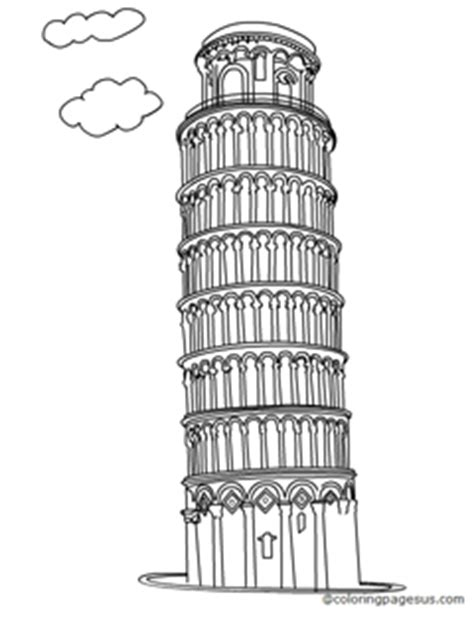 Leaning Tower Of Pisa Coloring Page Coloring Pages Leaning Tower Of Pisa Coloring Page