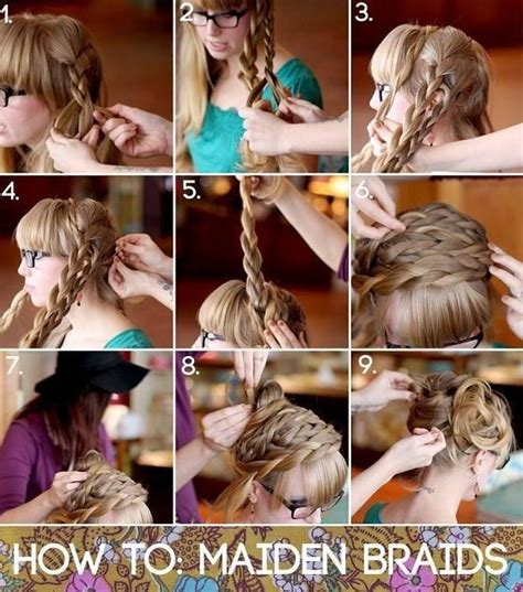 cool braided hairstyles step by step braids updo hairstyle tutorial how to style maiden