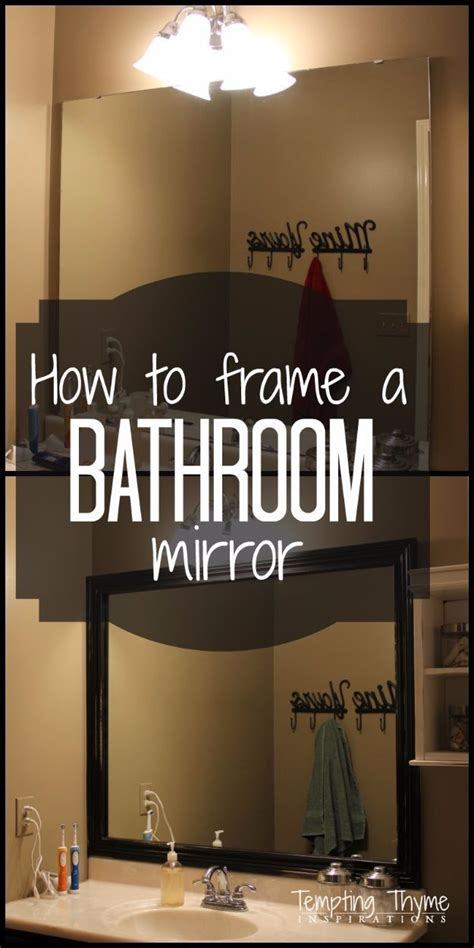 diy home improvement on a budget frame a bathroom mirror
