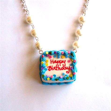 birthday cake necklace happy birthday necklace