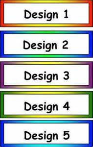 blank classroom tray labels