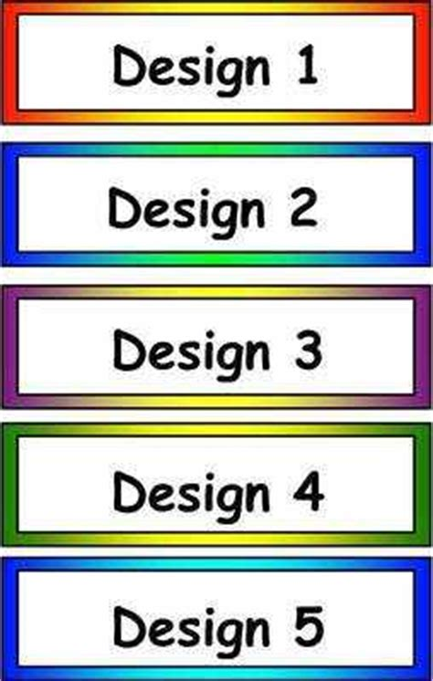 printable book labels ks2 blank classroom tray labels
