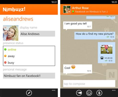 messenger for mobile phone nimbuzz messenger chat across mobile devices