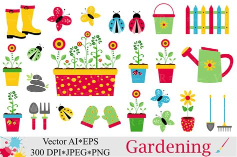 clipart graphics garden clipart graphic by vr digital design