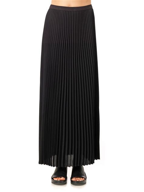 sea sunray pleated maxi skirt in black lyst