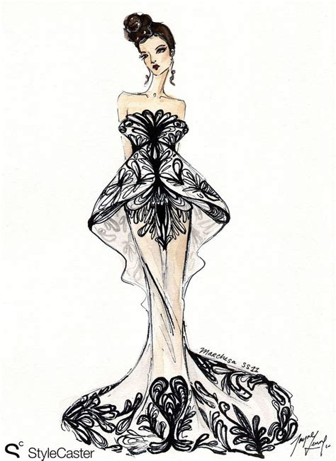 Sketches Fashion by 1000 Images About Drawing Dress On Fashion