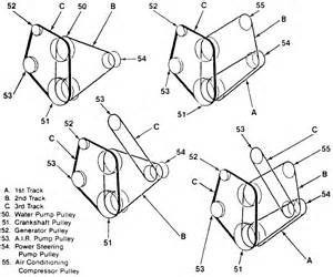 need belt routing for 1989 1 2 allegro 33 with 454 engine