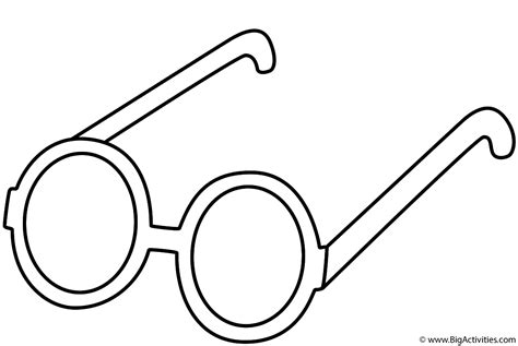 eyeglasses coloring pages glasses coloring page clothing