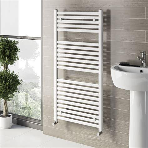 white towel rails for bathrooms white heated towel rail 1200 x 600 victoriaplum com