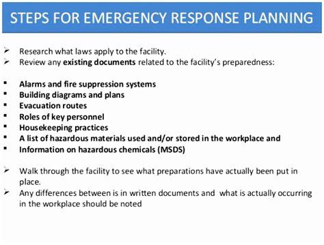 emergency preparedness and response plan template 12 osha emergency response plan template oeytt templatesz234
