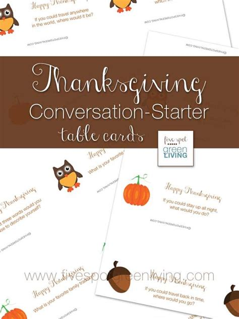 printable thanksgiving conversation cards 1000 images about dinner conversations on pinterest
