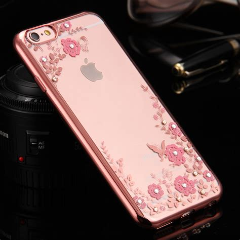 Iphone 6 Plus 6 Luxury Plating Flower Diamonds Soft Limited popular gold iphone 5 buy cheap gold iphone