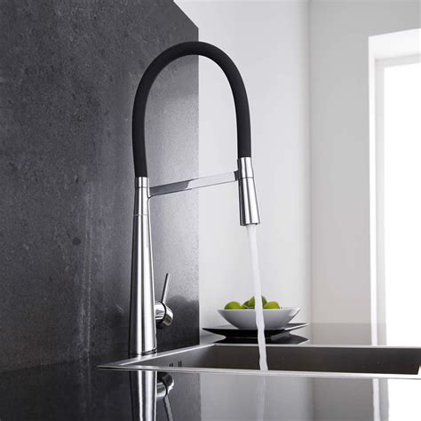 rubinetto cucina miscelatore lavello cucina nero con doccia estraibile