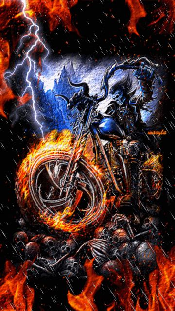 Ghost Rider Bike Live Wallpaper by Anka Juliana Photo Reapers Skullz An More