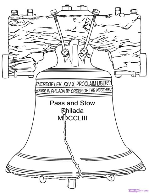 how to bell a how to draw the liberty bell step by step other landmarks places free