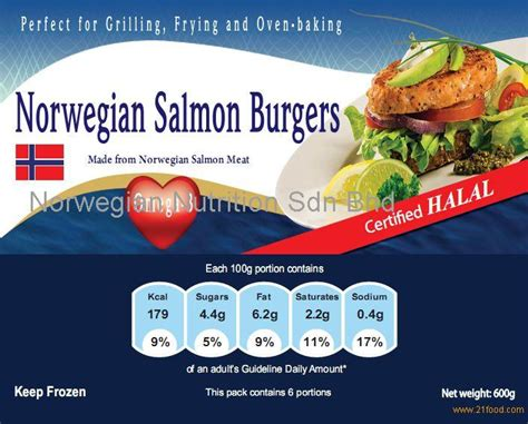 Supplier Norwegin By salmon burgers products malaysia salmon burgers supplier
