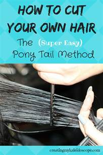 how to do layers the ponytail method on curly american hair how to cut your own hair the ponytail method creating my kaleidoscope
