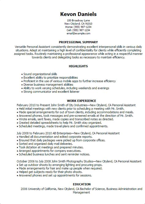 assistant templates resume excellent interpersonal skills