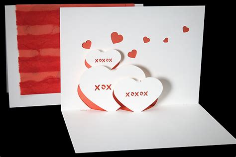 Origami Pop Up Card - hearts origami architecture pop up cards by live your