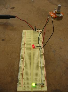 photoresistor potentiometer physical computing itp lab getting the breadboard to work