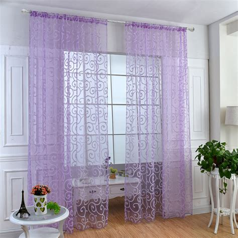 window panel curtain room divider new floral sheer voile balcony tulle scarf ebay