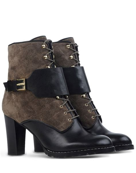 see by boots see by chlo 233 lace up suede ankle boots in black lyst