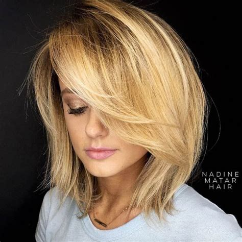 med length bob graduated layers 40 mind blowing short hairstyles for thick hair layered