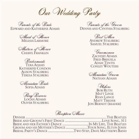wedding blessing order of service template vintage monogram wedding programs wedding ceremony