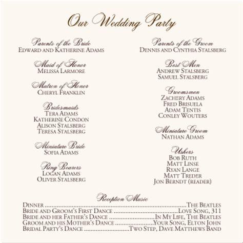 Order Of Ceremony For Wedding Program   hydrothepiratebay