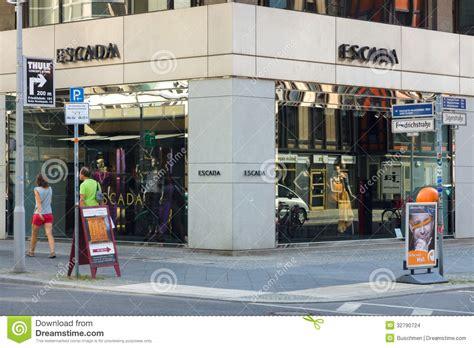 design clothes berlin escada boutique on friedrichstrasse editorial stock image