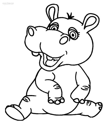 hippo printables printable hippo coloring pages for cool2bkids