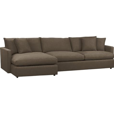 2 piece sectional sofa sectional sofas leather and fabric crate and barrel