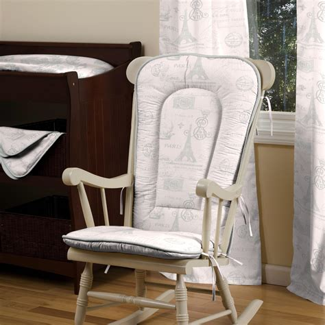 Nursery Rocking Chair Cushions Script Rocking Chair Pad Carousel Designs