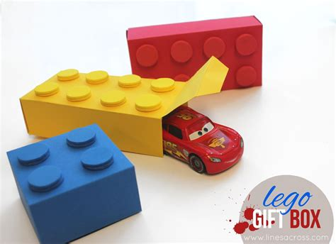 Lego Gift Card - lego gift boxes with free templates lines across