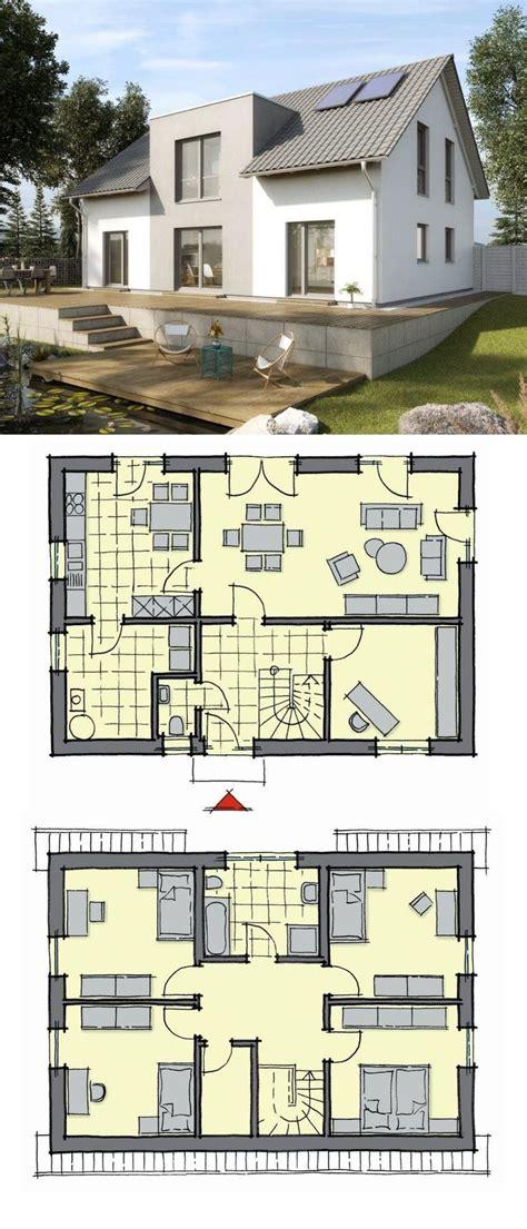 einfamilienhaus neubau modern grundriss  qm  zimmer