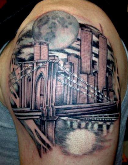 new york city tattoo designs bridge nyc skyline by alecia tattoos nyc