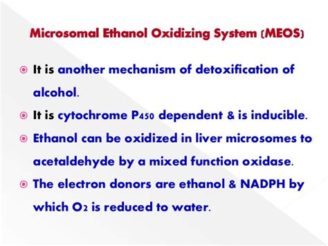 Acetaldehyde Detox by Metabolism