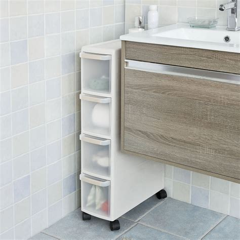 pull out drawers for bathroom cabinets sobuy 174 4 drawers kitchen cupboard bathroom cabinet slide