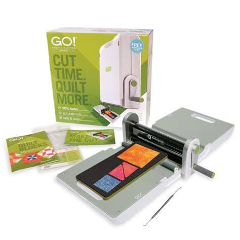 Material Cutter For Quilting by Accuquilt Go Fabric Cutter Starter Set