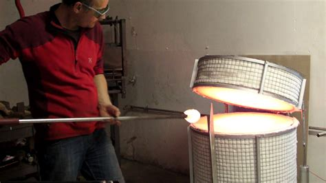 studio glass furnace commission efficient hot glass combo first time in my