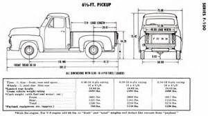 bed dimensions truck ford 1948 1950
