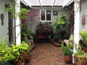 outdoor exterior garden simple small brick courtyard
