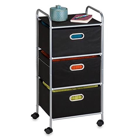 bed bath and beyond cart honey can do 174 steel 3 drawer rolling fabric cart bed