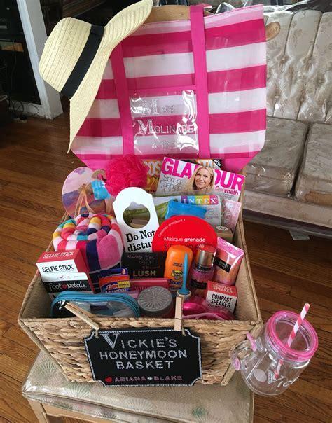 Honeymoon Gift Basket   Gift Ideas   Wedding gift baskets