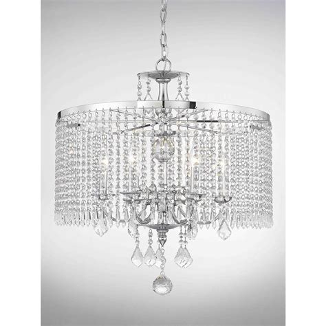 Polished Chrome Chandelier Fifth And Lighting 6 Light Polished Chrome Chandelier With K9 Dangles Hd 1146 The