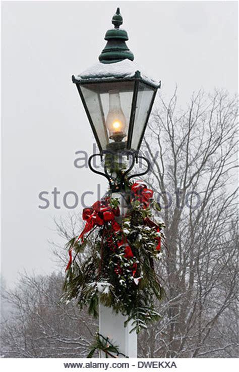 christmas l post snow stock photos christmas l