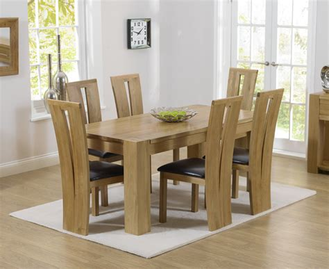 Chunky Solid Oak Dining Table And 6 Chairs Rutland Solid Chunky Oak Furniture Small Dining Table And 6 Arizona Chairs Ebay